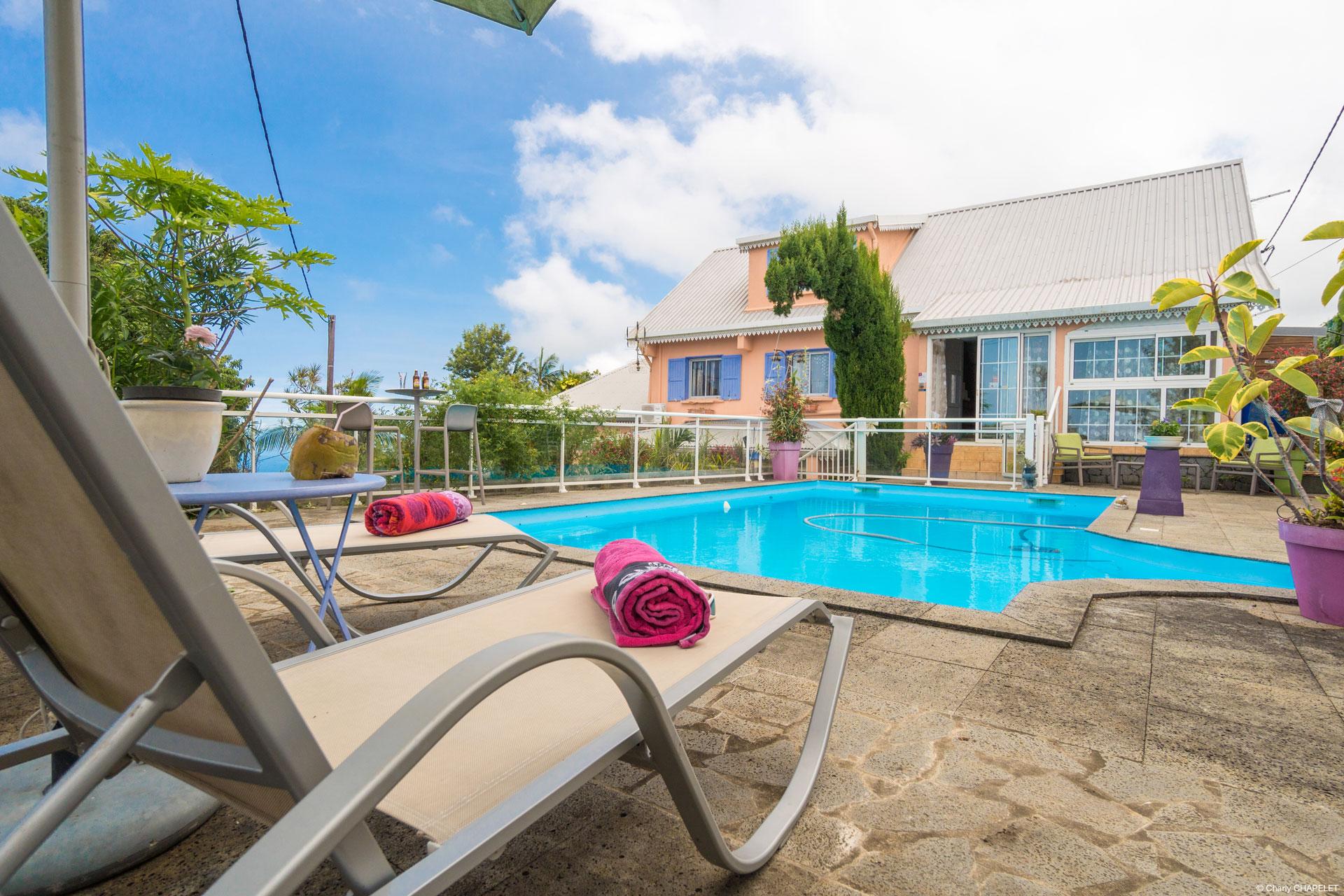 Gîte avec piscine à La Réunion