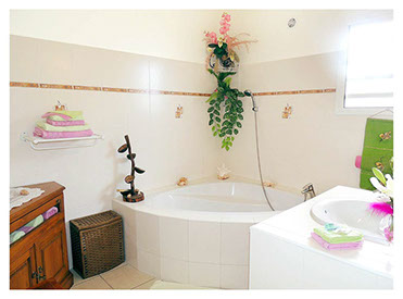 Salle d'eau au gîte de Petite-ile à La Réunion